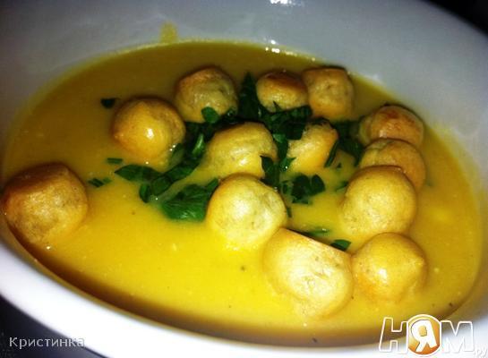 Рецепт Крем-суп из тыквы с плавленым сырком