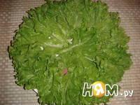 Приготовление салата из пекинской капусты и фасоли: шаг 4