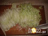 Приготовление салата из пекинской капусты и фасоли: шаг 5