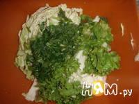 Приготовление салата из пекинской капусты и фасоли: шаг 7