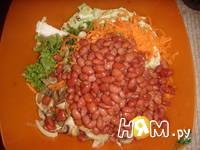 Приготовление салата из пекинской капусты и фасоли: шаг 9
