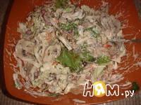 Приготовление салата из пекинской капусты и фасоли: шаг 10