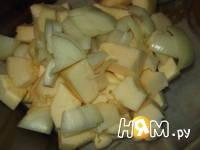 Приготовление супа с запеченным кабачком и бекон: шаг 2
