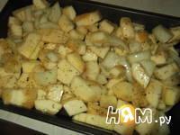Приготовление супа с запеченным кабачком и бекон: шаг 4