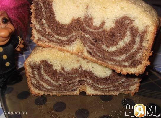 Мраморный кекс из хлебопечки