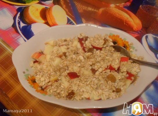 Рецепт Овсяная каша с фруктами и медом