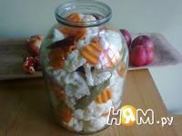 Приготовление соления из цветной капусты: шаг 4