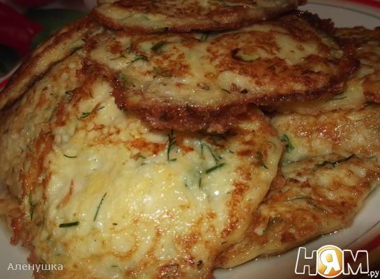 Оладьи из кабачка с сыром