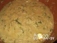 Приготовление оладий из кабачка с сыром: шаг 3