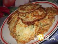 Приготовление оладий из кабачка с сыром: шаг 6