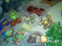 Приготовление мяса запеченного с овощами: шаг 1
