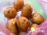 Приготовление печеной картошки: шаг 3