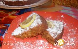 Медово-лимонный пирог с овсяными хлопьями