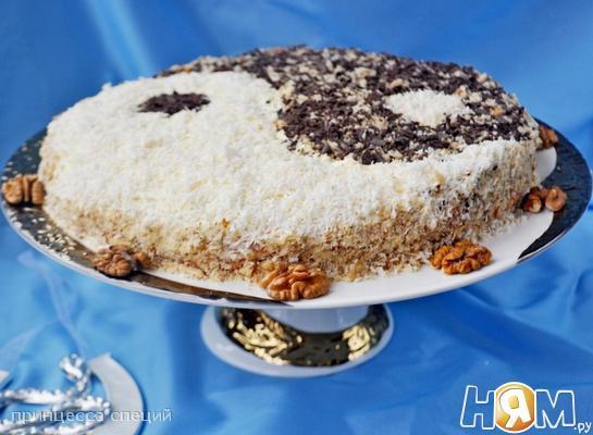 """Торт из белой фасоли """"Инь-янь"""""""