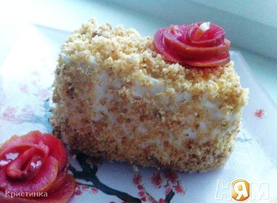 Рецепт Пирожное с карамелизированными овсяными хлопьями