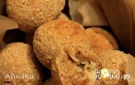 Овсяное печенье с творогом и инжиром