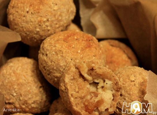 Рецепт Овсяное печенье с творогом и инжиром