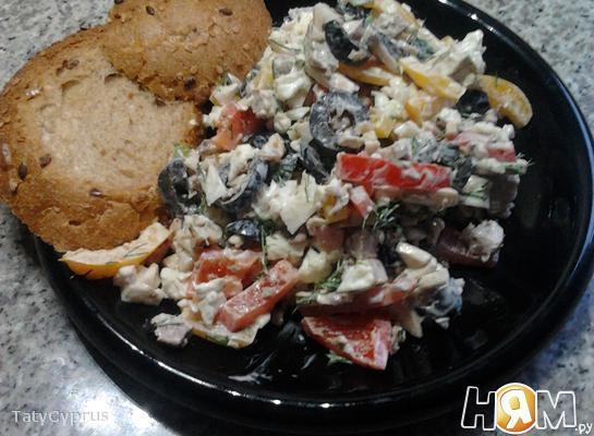 Рецепт Необыкновенный салат с бужениной