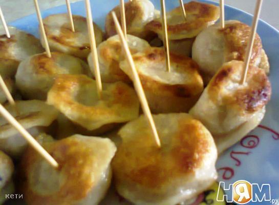 Рецепт Пельмени жареные а-ля канапе