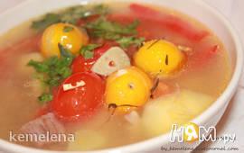 Суп из голени ягненка по-деревенски