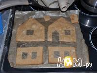 Приготовление новогодних пряничных домиков: шаг 7