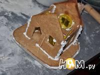 Приготовление новогодних пряничных домиков: шаг 9