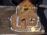 Приготовление новогодних пряничных домиков: шаг 10