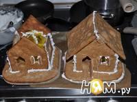 Приготовление новогодних пряничных домиков: шаг 12