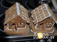 Приготовление новогодних пряничных домиков: шаг 13