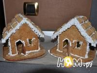 Приготовление новогодних пряничных домиков: шаг 14