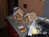 Приготовление новогодних пряничных домиков: шаг 16