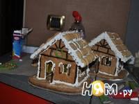 Приготовление новогодних пряничных домиков: шаг 17