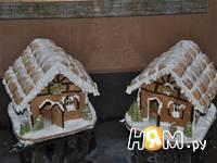 Приготовление новогодних пряничных домиков: шаг 18