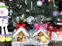 Приготовление новогодних пряничных домиков: шаг 20
