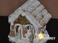 Приготовление новогодних пряничных домиков: шаг 22