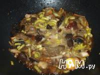 Приготовление индейки с грибами: шаг 3