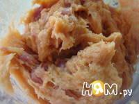 Приготовление куриных колбасок: шаг 2