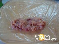Приготовление куриных колбасок: шаг 3
