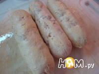 Приготовление куриных колбасок: шаг 6