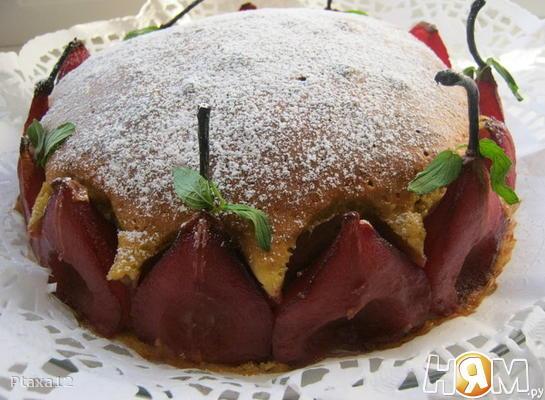 Миндальный пирог с грушами