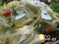Приготовление сыра бри с маринованным луком: шаг 3