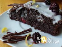 Приготовление торта с ежевикой: шаг 15