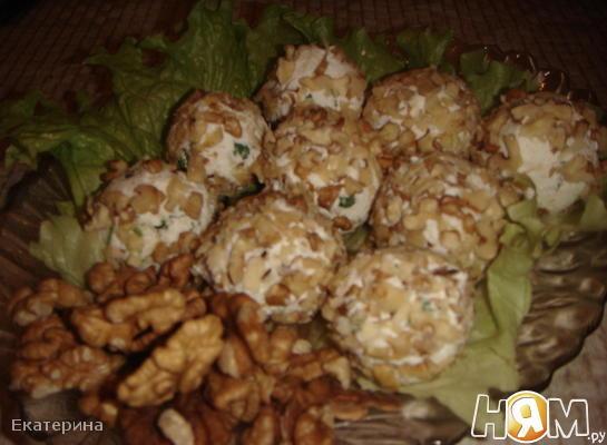 Творожно-сырные шарики на закуску