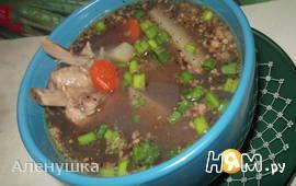 Гороховый суп с грецким орехом