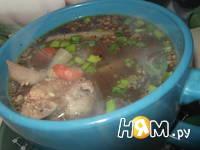 Приготовление горохового супа с грецкими орехами: шаг 6