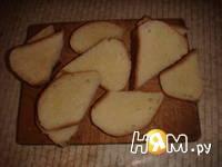 Приготовление бутербродов к новогоднему столу: шаг 2