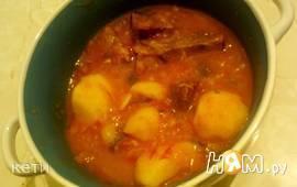 Суп говяжий с картошкой