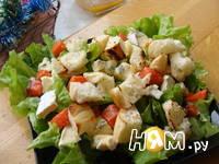 Приготовление салата с семгой и сыром дор блю: шаг 5