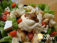 Приготовление салата с семгой и сыром дор блю: шаг 6