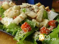 Приготовление салата с семгой и сыром дор блю: шаг 8